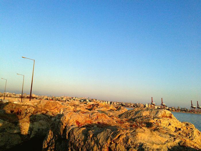 EyeEm Selects Sky Outdoors Blue Beach Nature Sea And Sky Searocks Clear Sky Harbor View