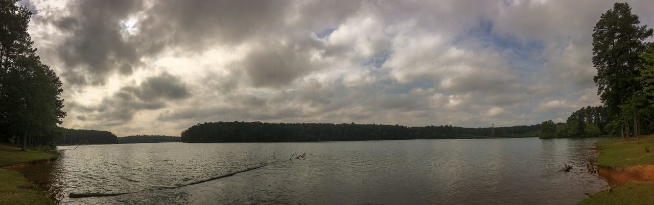 Ft Yargo Lake Panorama Beauty In Nature Calm Cloud Cloud - Sky Cloudy Day Growth Idyllic Lake Lakeshore Landscape Nature No People Non Urban Scene Non-urban Scene Outdoors Overcast Remote Rippled Scenics Sky Tranquil Scene Tranquility Tree Water
