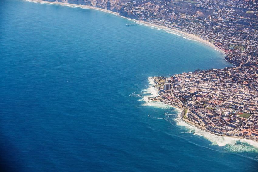 Ariel view of La Jolla, Ca