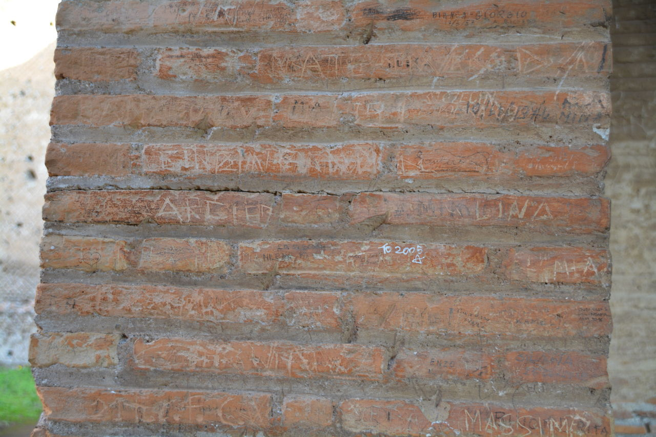 brick wall, brick, wall, wall - building feature, textured, backgrounds, full frame, no people, built structure, architecture, pattern, day, close-up, outdoors, weathered, old, rough, building exterior, construction material, brown, stone wall, concrete