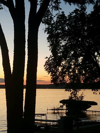 Cabin dusk Dusk On The Water Lake Living Cabin Life Trees And Sky Sunset Minnesota Nature
