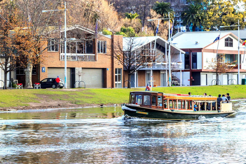 Cruising down the Yarra River past boat sheds Architecture Building Exterior Built Structure Day Nature Nautical Vessel One Person Outdoors People Real People Tree Water