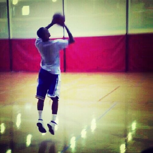 in the gym putting up shots!