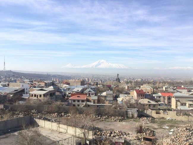 View From My University 🏢 No People Cloud - Sky 🇫🇷🇦🇲French University Ararat Mountain🗻🗻