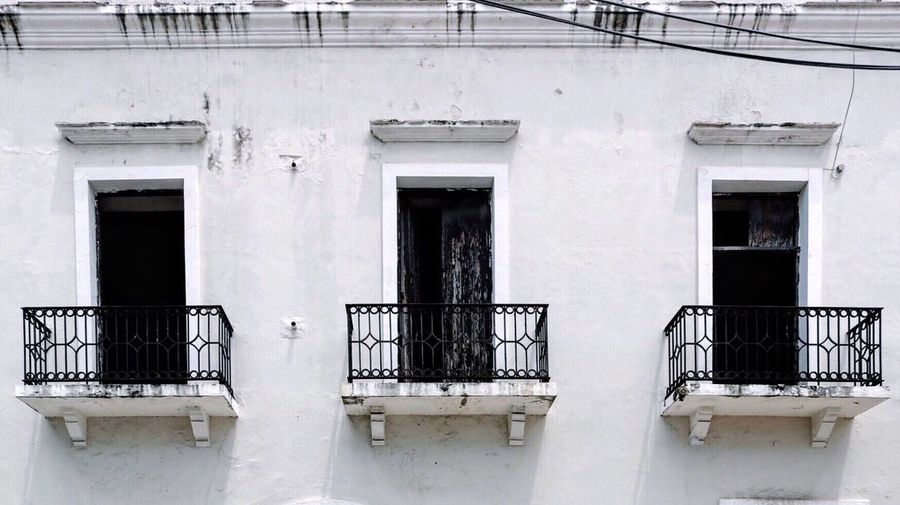 Black And White Friday Architecture Built Structure Building Exterior Railing Window House Steps And Staircases Residential Building Door Steps No People Day Outdoors Balcony Whitewashed