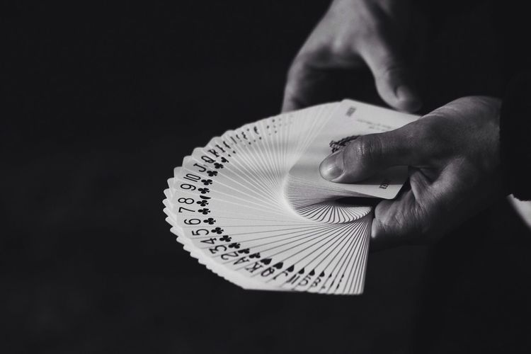 'Anything that gets your blood racing is probably worth doing' ♦️ Human Hand Holding Skill  Real People EyeEmNewHere Cards Passion Magic Cardistry  Blackandwhite Shadow EyeEmNewHere EyeEmNewHere EyeEmNewHere Welcome To Black Art Is Everywhere BYOPaper!
