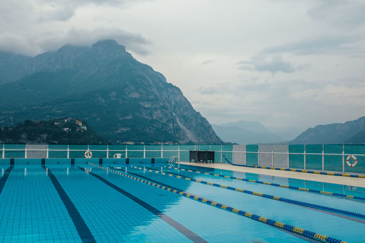 Como Lake Beauty In Nature Cloud - Sky Italian Italy Lecco Mountain Mountain Range Nature No People Non-urban Scene Outdoors Pool Scenics - Nature Sky Swimming Pool Tranquil Scene Tranquility Turquoise Colored Water