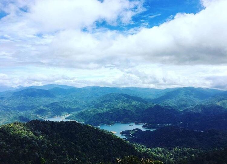 Cloud - Sky Top Mountain Blue Sky Lake Green Trees Jungle Trekking Outdoors Mountains Natural View Breathtaking Kutu Hill Malaysia White Clouds Landscape_Collection