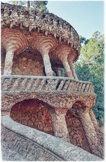 Columns And Stone Stonestructures Madeofstone Parkguell Barcelona Antoni Gaudí Barcelonalove Antonigaudi Built Structure Travel Destinations Traveldestination