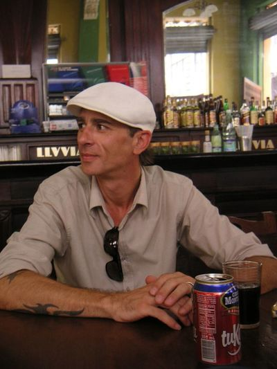 La Habana ,Cuba Mi @ Bar Cubano Havanna Cuba Mi Adult Adults Only Day Hardhat  Headwear Helmet Indoors  Mature Adult Occupation One Man Only One Person Only Men People Portrait Real People