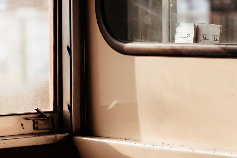Train Window No People Timetable Sunlight Afternoon Local Train Chiba Japan Chiba,Japan Travel November November 2016 Trainphotography Atmosphere Light And Shadow Beige Tones Steel Inside 小湊鐵道