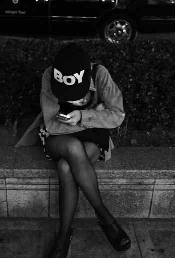 Streetphotography Boy Girl Monochrome