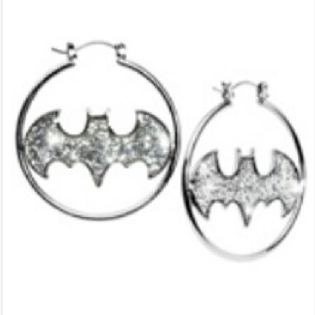 I really want IWant Batman Earings Hoops