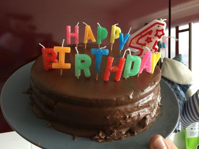 Food Birthday Cake 4 Years  Birthday Happy Birthday Chocolate Cake