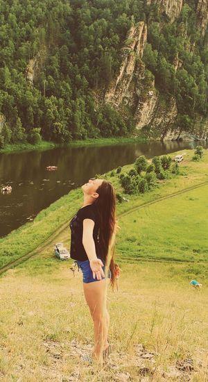 типкрасотка модель Башкирия волосы мои летают:-D природа, река, красиво Креветка красотка Река ай скалыстрашно