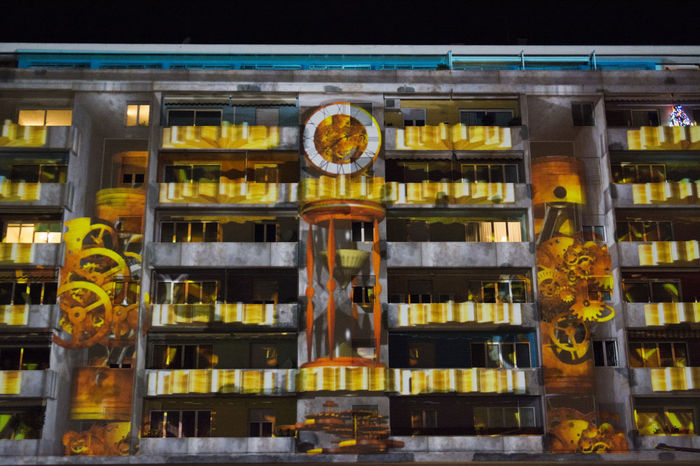 Architecture Built Structure Building Exterior No People Outdoors City Night EyeEmBestPics Multi Colored EyeEm Best Shots Nikon D7100 EyeEm Gallery Mapping Mapping Festival