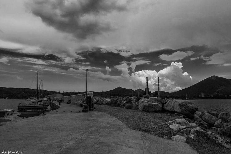 Oil Pump Sky Landscape Cloud - Sky