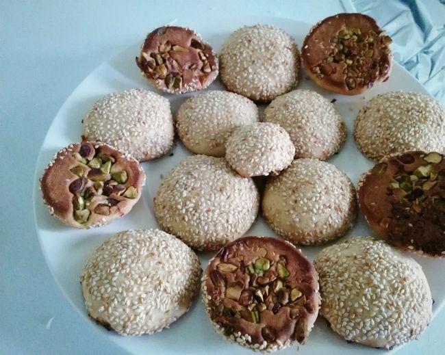 Berazek Biscuits Food Middleeastern Dessert Cookies Homemade Pistachio Syrian Food Sesame Food Stories