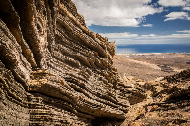 Rock Rock Formation Scenics - Nature Geology Cloud - Sky Non-urban Scene Sky Beauty In Nature Rock - Object Physical Geography Solid Eroded Nature Mountain Day