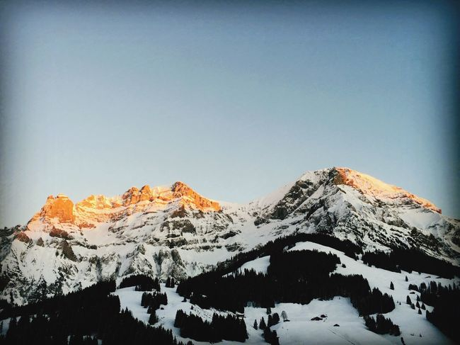 Adelboden Switzerland Swissgirl Snow Winter Cold Temperature Mountain Nature Clear Sky Beauty In Nature No People Outdoors Day Sky