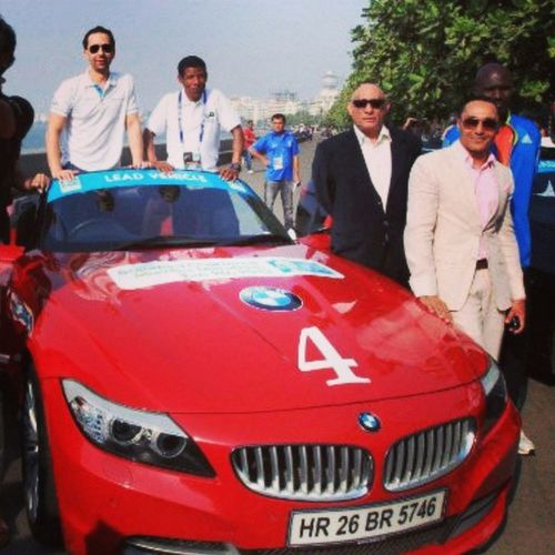 Mumbai Car Rahulbos Procam Event Me Perfect Click Red Bmw Car Marathon Road Narimanpoint