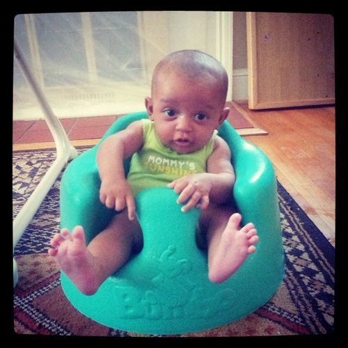 Bumbos. You should only put them on the floor. No one seems to know this. Dadrant Bumbo Readtheinstructions