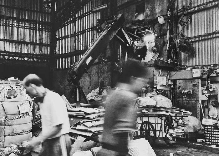 Work Working Recycle Cardboard Works Machine Worker People Urban Exploration Street Photography Streetphotography Streetphoto_bw Blackandwhite Black And White Black & White Snap A Stranger Light And Shadow The Street Photographer - 2016 EyeEm Awards My Point Of View 専門用具萌 Eye4photography  EyeEm Best Shots Monocrome Photography in 中正區 Taipei,Taiwan