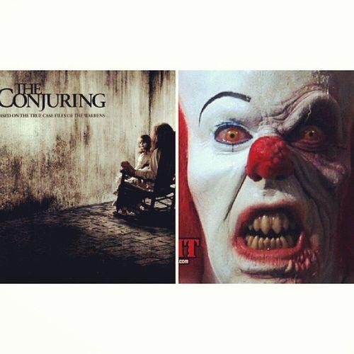 Day 22, scary movies. Hateclowns Demonicspooky Butgottalovethemscarymovies