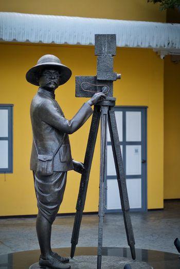หอภาพยนตร์ Art And Craft Day Filmaker Human Representation Male Likeness One Person Outdoors Real People Sculpture Standing Statue