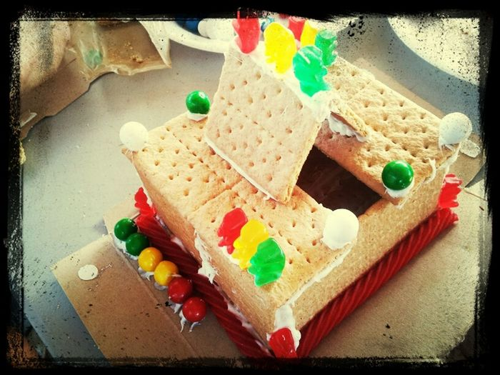 my sons gingerbread house