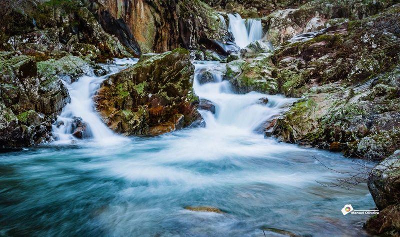 Rio Portugal Queda De água Nature Montanhas Cascata Soajo Gerês