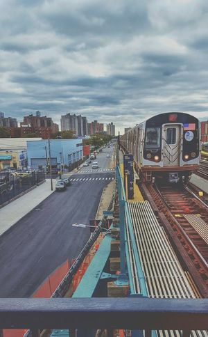 Express way.... Brooklyn Transportation Cloud - Sky Urban Skyline New York City Train Station Train Photography Hrd