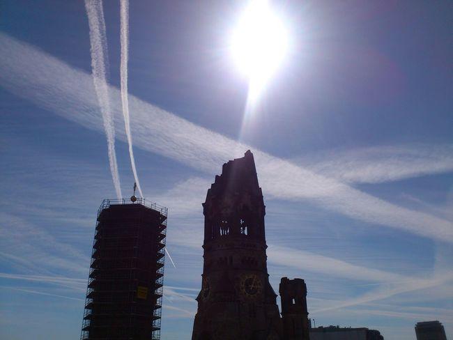 Silhouettes Gedächtniskirche Sky Sun