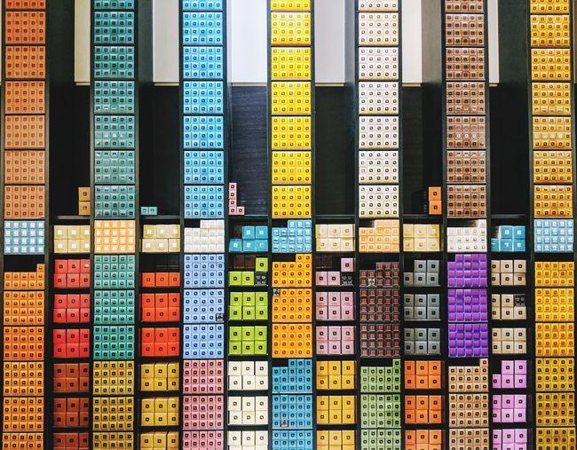 Full frame shot of shelf