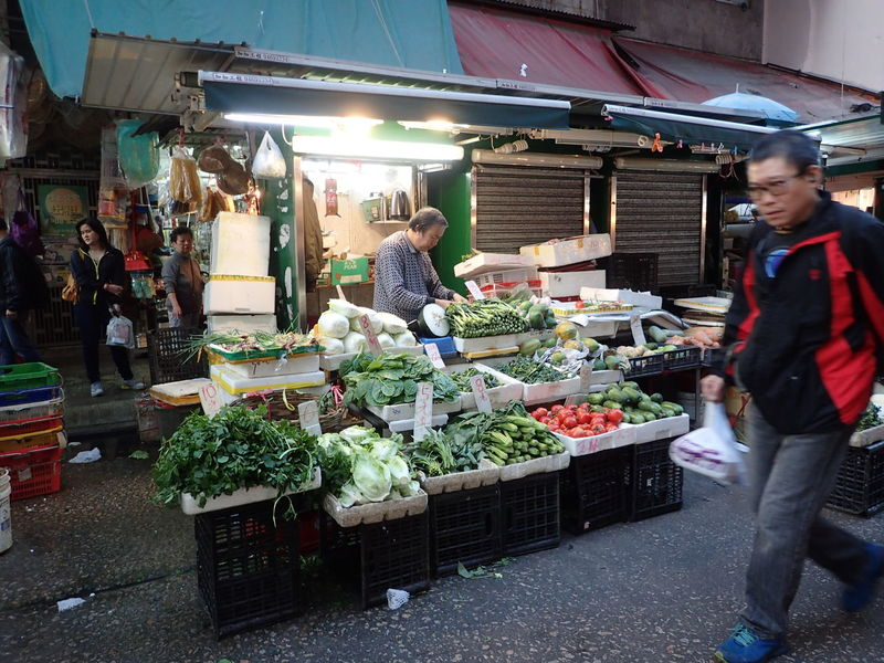 Choice Customer  Farmer Market Food For Sale Freshness Hong Kong Hong Kong Island Incidental People Local Business Local Life Market Market Stall Outdoors Real People Retail  Shau Kei Wan Small Business Standing Variation Vegetable Women