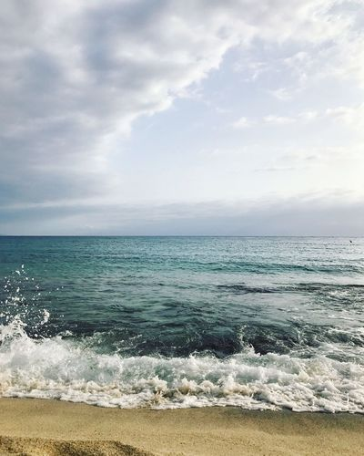 Sea Horizon Over Water Water Beauty In Nature Sky Nature Cloud - Sky Scenics Beach Wave Tranquility No People Sand Day Outdoors