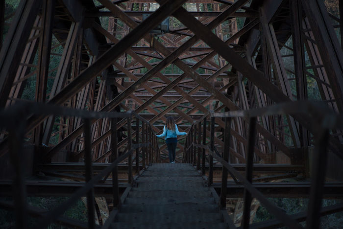 Ponte san michele Architecture Art Bridge Bridge - Man Made Structure Built Structure Connection G Girl One Person Outdoors Perspective Perspective Photography Steel Steel Structure