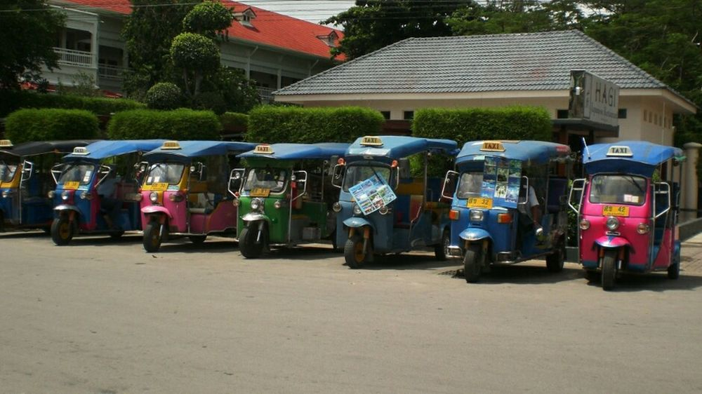 Asian Culture Tuk-tuk Street Photography Multicolors  Taxis @ Thailand