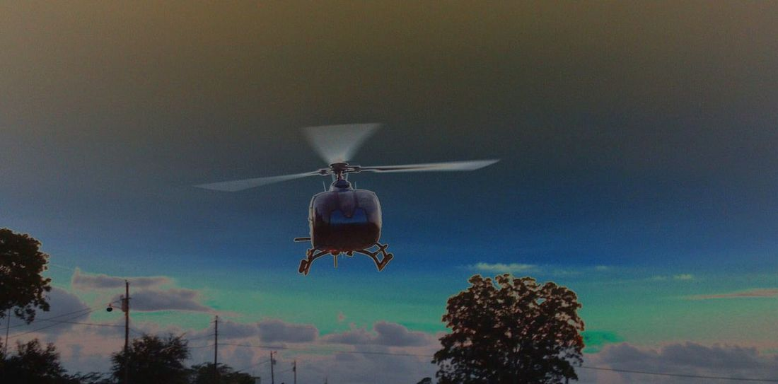 Helicopter, emergency Flying Outdoors Sky Firefighter Paramedic EMS Be. Ready. EyeEmNewHere