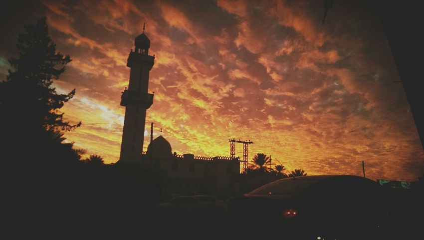Sky And Clouds Yesterday Beutiful  Sunset Mosque Peaceful Evening