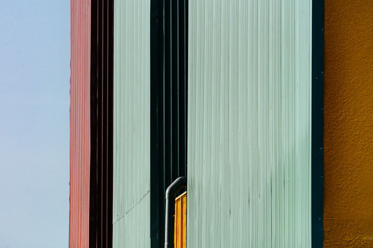 Close-up of multi colored building