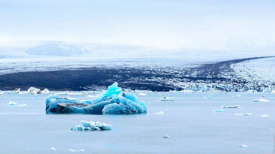 Scenic View Of Ice Berg