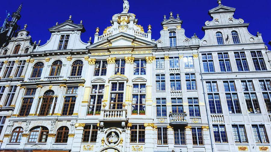 Brussel Architecture Gold Grote Markt Tourist Attraction  Tourist Brussels Tourism Sun