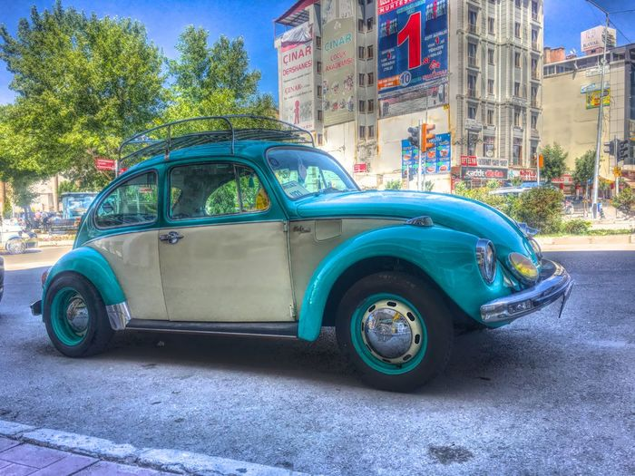 Colors HDR Turkey Turquoise Van Vintage Volkswagen Woswos