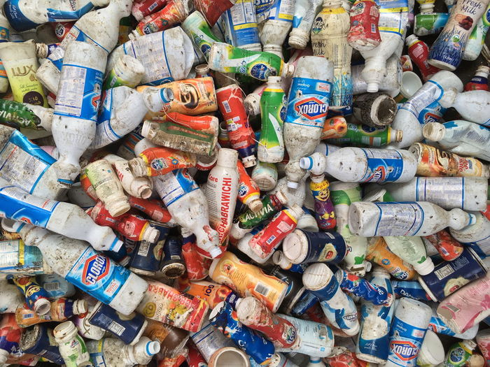 Large Group Of Objects Multi Colored No People Recycling Bottles Collection Plastic Used Empty Garbage Shampoo Drinks égypte End Plastic Pollution