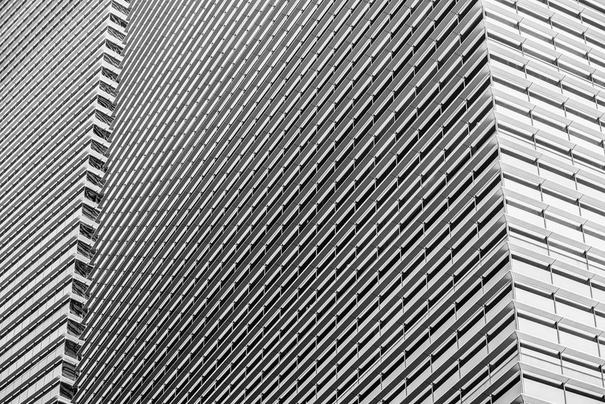 Lines of modern building corner, in black and white Pattern Architecture Building Exterior Modern Building Office Office Building Exterior Abstract Architecture Architecture_collection Black And White Lines Window Sunshades Corner Design