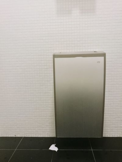 Indoors  Flooring White Color No People Copy Space Architecture Tile Wall - Building Feature Bathroom Tiled Floor Gray Wood - Material Simplicity Technology Built Structure Paper Single Object Clean Silver Colored