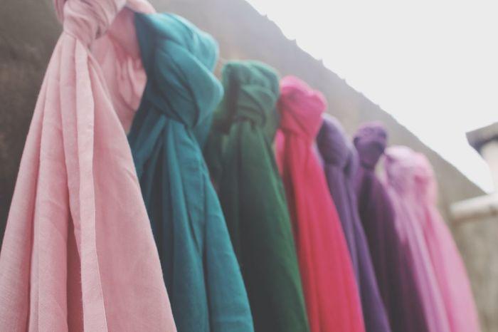 hanging colorful Hijab Variation Multi Colored Hanging Close-up Womenswear Indoors  EyeEm Taking Photos Colorful EyeEmBestPics Eyeemphotography EyeEm Best Shots