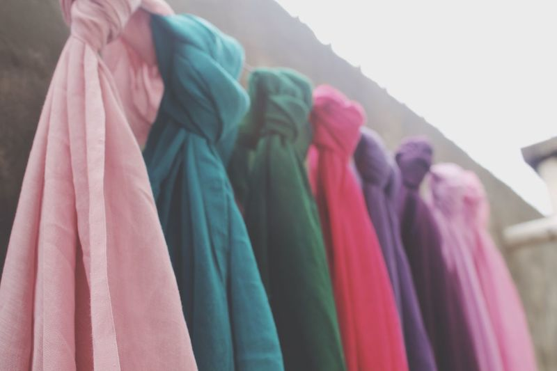 hanging colorful Hijab Variation Multi Colored Hanging Close-up Womenswear Indoors  EyeEm Taking Photos Colorful EyeEmBestPics Eyeemphotography EyeEm Best Shots