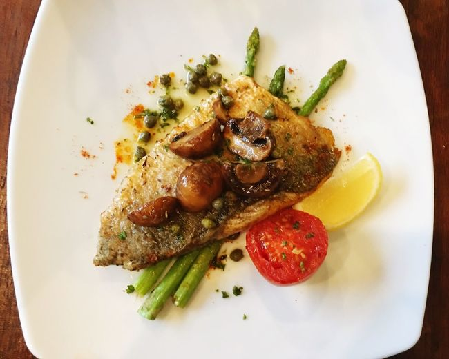 Fish Steak Yummy Delicious Good Taste On The Table Bon Appétit! Food Lover Crazy In Food Food Chunsumonpics